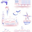Netherlands sights and symbols — Stock Vector #5291568
