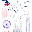 Great Britain sights and symbols — Stock Vector