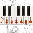 Strings on keys — Stock Vector #5291638