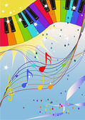 Rainbow jazz — Stock Vector