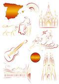 Spanish sights and symbols — Stock Vector