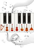 Strings on keys — Stock Vector