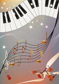 музыкальное безумие — Cтоковый вектор