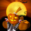 Pretty Halloween pumpkin — Stock Photo #3965647