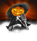 Trendy Halloween pumpkin — Stock Photo