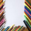 Pencils and notebooks — Stockfoto