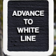 Advance to White Line — Stock Photo #4287504