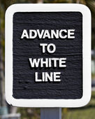 Advance to White Line — Stock Photo