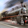 Locomotive in motion blur — Stock Photo