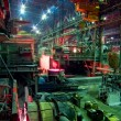 Metallurgical works, industrial production process — Stock Photo
