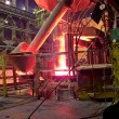 Metallurgical works, industrial process — Stock Photo