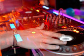 DJ's hands — Stock Photo