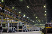 Industrial metallurgical storehouse — Stock Photo