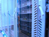 Servers in the data center — Stock Photo