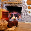 Stock Photo: Comfort of home hearth