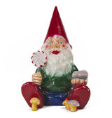 Sitting Garden Gnome_2 — Stock Photo