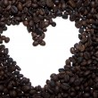 Stock Photo: Coffee beans heaart