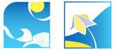 Color symbols - summer — Stock Vector