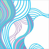 Abstract background with multicolored waves — Stock Vector