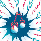 Abstract background with Christmas toys and tapes — Wektor stockowy