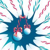 Abstrakt bakgrund med jul leksaker och band — Stockvektor