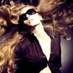 Beautiful blond girl. Fashion art photo — Stock Photo