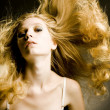 Portrait of the beautiful woman with long hair — Stock Photo #4084011