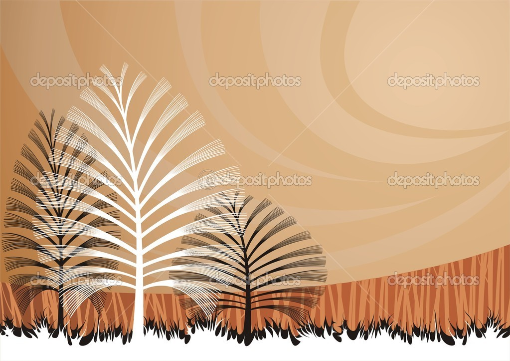 background with artistic trees  — Stock Vector #3943235