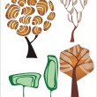 Royalty-Free Stock Vector Image: Tree collection