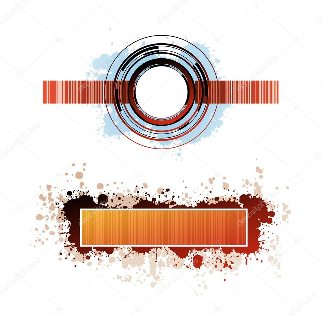 Creative design isolated vector banners  — Stock Vector #3980843