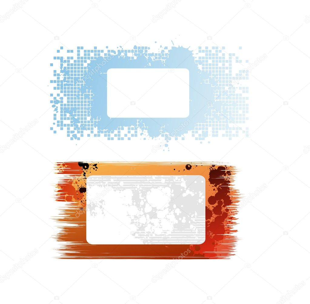 Creative design isolated vector banners  — Stock Vector #3980857