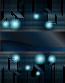 Bandiera vettoriale stile tecnologico — Vettoriale Stock