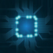 Technology theme vector background — Stock Vector