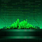 Technological city — Stock Vector
