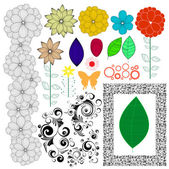 Floral collection — Stock Vector
