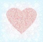 Ornamented heart — Stock Vector