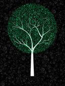 Ornamented tree — Stock Vector