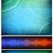 Technological style vector banners — Stock Vector