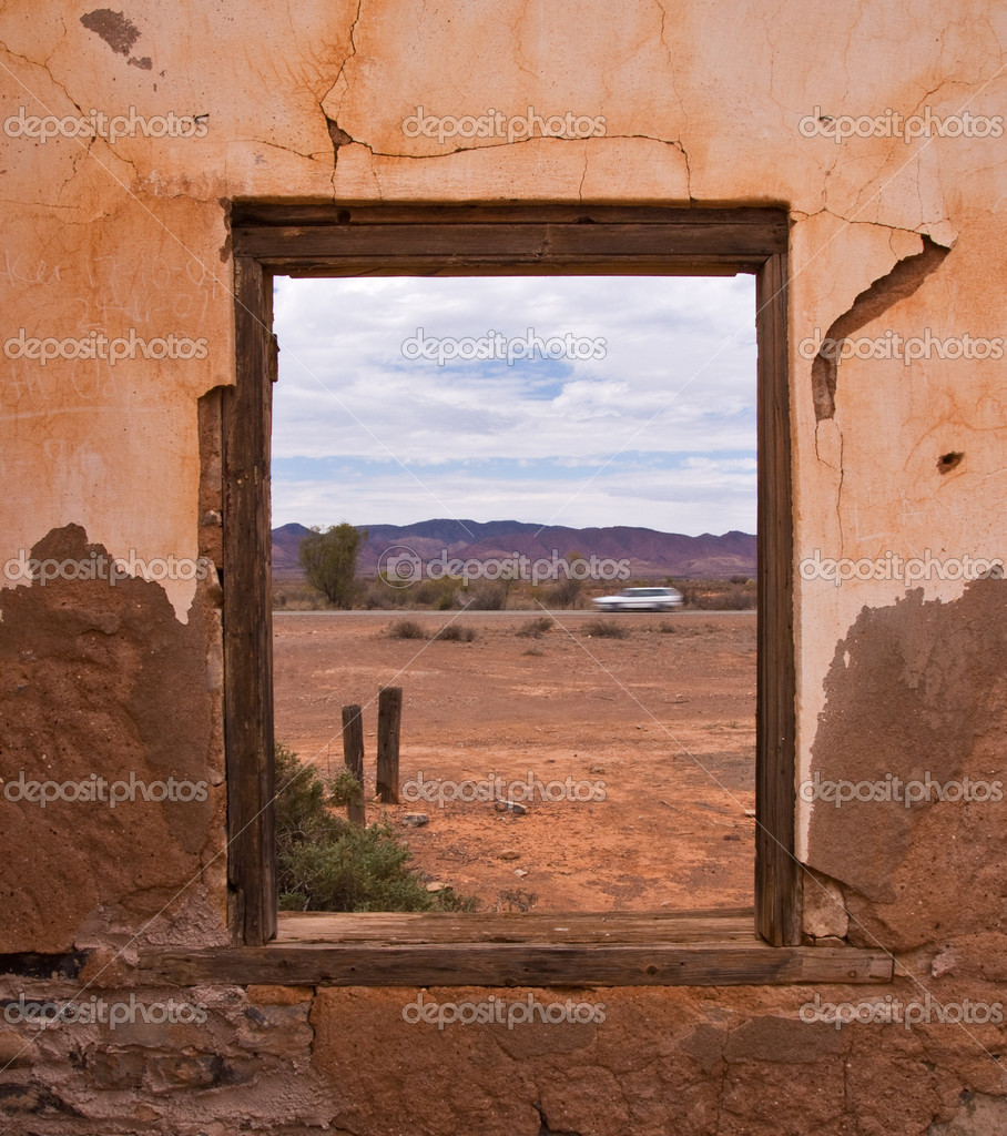 Window view in old house, Outback, Australia — Stock Photo #3946031