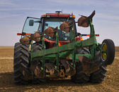 Tractor and implement — Stock fotografie