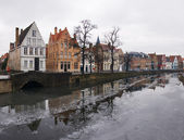 Brugge in winter — Stock Photo