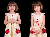 Modest little girl — Stock Photo
