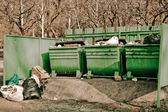Garbage tanks — Stock Photo