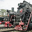 Old soviet locomotives - Stock Photo
