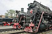 Old soviet locomotives — Stock Photo
