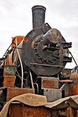 Old soviet locomotive — Stock Photo