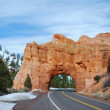 Stone gate in Bryce Canyon national park - Stock Photo