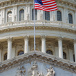 National flag and capitol building, Washington DC. — Stock Photo #4001285