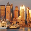 New York City Manhattan sunset — Stock Photo