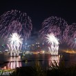 New York City Manhattan fireworks — Stock Photo